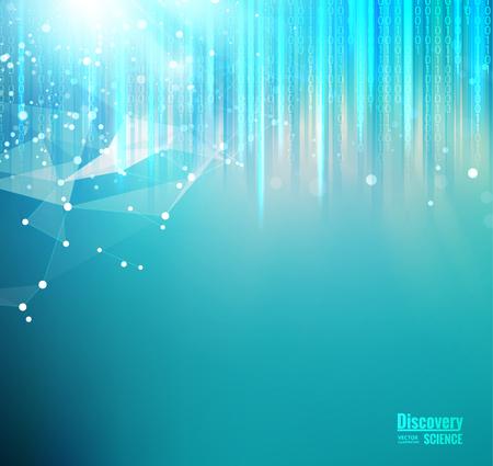 Maglia blu luci sullo sfondo. Astrazione per presentazioni scientifiche. Elemento poligonale a maglia metallica. Astratto sfondo futuristico Illustrazione vettoriale Archivio Fotografico - 86849553