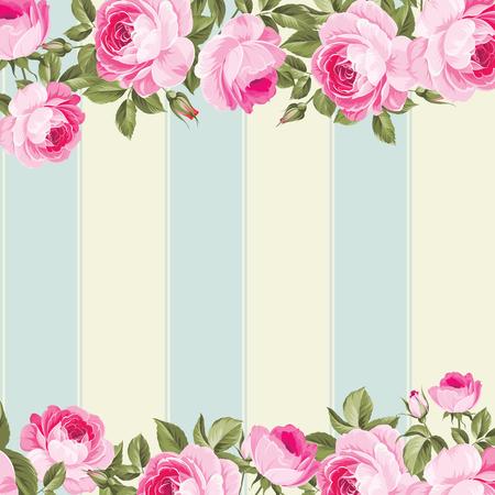 Ornate pink flower border with tile elegant vintage wallpaper ornate pink flower border with tile elegant vintage wallpaper design vector illustration stock mightylinksfo