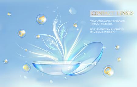 Wissenschaftsillustration für medizinisches Design. Kontaktaugenlinsen kümmern sich um Ihre Gesundheit. Vektor-illustration Standard-Bild - 96528364