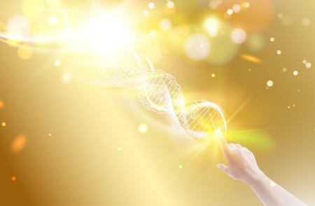 Science illustration of DNA. Banque d'images - 110824129