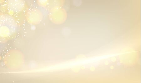 Golden blurred bokeh for holiday glowing background. Happy holidays day backdrop. Vector illustration. 向量圖像
