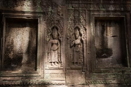 ta: Ta Prohm temple ruines in Angkor, Cambodia