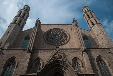 pi: Santa Maria Del Pi cathedral in Barcelona