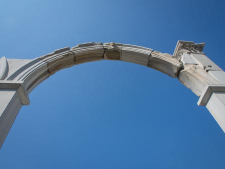 Agora archeological site ruins in Izmir, Turkey