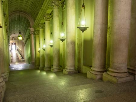 interieurs en architectonische details van het Vaticaanse museum