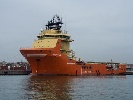 Supply vessel Siem PIlot docked in Catania, Sicily