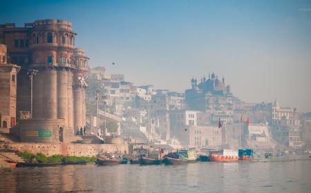 ganges: Ganges river in Varanasi, India Stock Photo