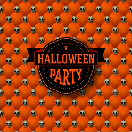 button tufted: Halloween background