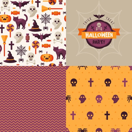 halloween pattern: Halloween design elements