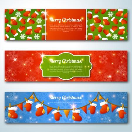 valenki: Set of stylish Christmas banners.