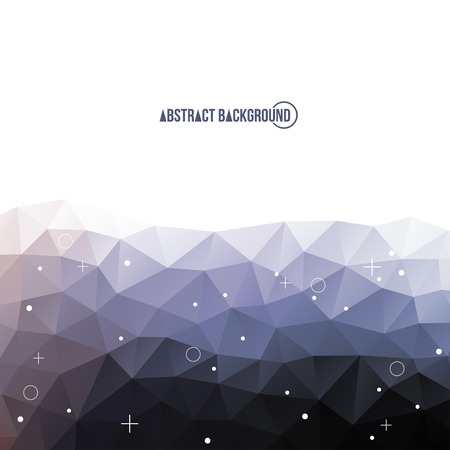 Light gray abstract polygonal backdrop. Beautiful geometric design for business presentations. Vector