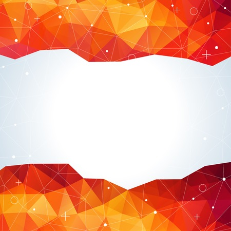 swag: Vector illustration with plenty space for your text. Light orange abstract polygonal backdrop. Lights, shadow. Beautiful geometric design.