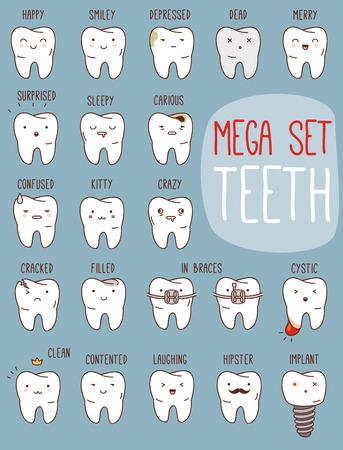 Zähne Behandlung eingestellt. Standard-Bild - 32111255