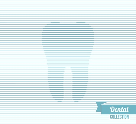 Vector illustration. Optical illusion. Background for dentistry and orthodontics design.