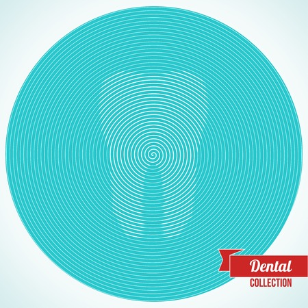 hypnosis: Vector illustration. Optical illusion. Background for dentistry and orthodontics design.