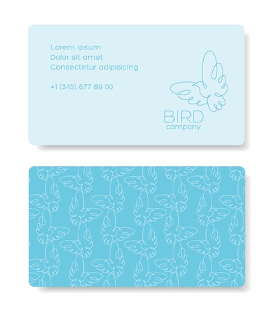 Business cards design with birds.  Vector illustration. Vector