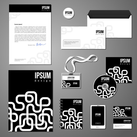 documentation: Documentation for business. Corporate identity design vector. Illustration