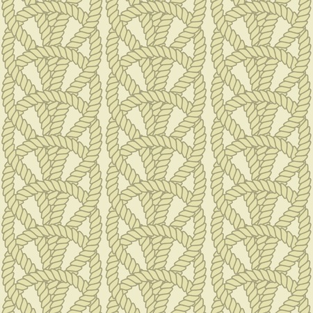 rope border: Vector illustration. Vintage colors style. Knot pattern.