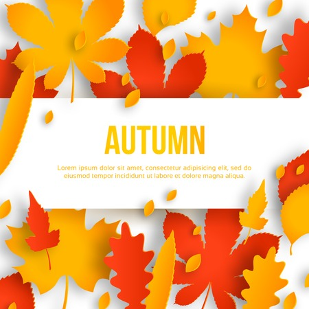 Vector illustration. Autumn Sale background with place for  text message. Vector