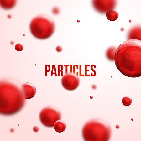 Abstract molecules design.  Atoms. Medical background for banner or flyer.