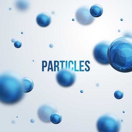 Vector illustratie. Atomen. Medische achtergrond voor banner of flyer. Stock Illustratie