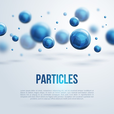 particle: Vector illustration. Atoms. Medical background for banner or flyer.