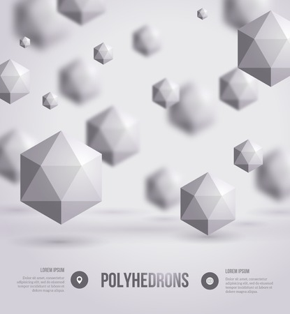 physics: Vector illustration. Crystals. Technology or scientific backdrop. Illustration