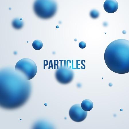 quimica organica: Ilustraci�n del vector. �tomos. Polvo en el aire.