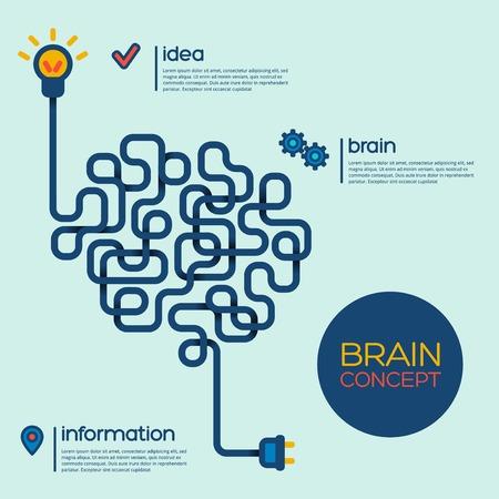 Creative concept of the human brain. Vector illustration. Stock Illustratie