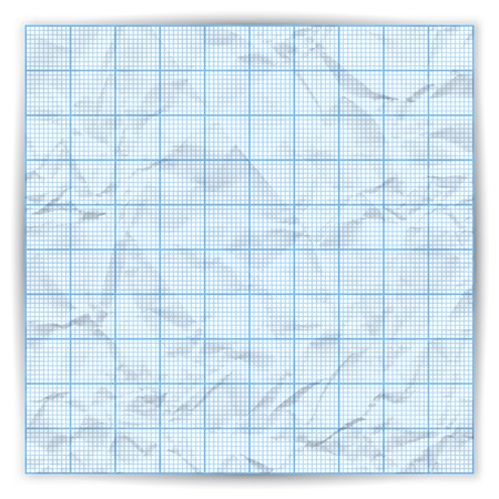 plotting: Vector illustration. Piece of crumpled paper. Education background. Illustration