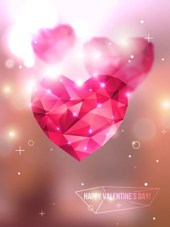 photography background: Vector illustration. Blurred background with lights. Valentines day abstract background. Invitation or greeting card template. Geometric shapes. Wallpaper.
