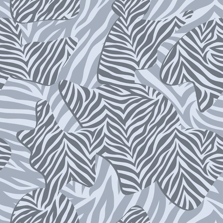 fur coat: Chic vector seamless patterns tiling. Animal print, zebra texture.