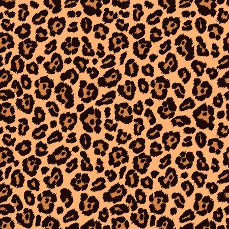 Animal print, la textura de leopardo. Textura sin fin se puede utilizar para la impresión sobre tela y papel o chatarra de reserva. Puede ser utilizado como telón de fondo los sitios web. Ilustración de vector