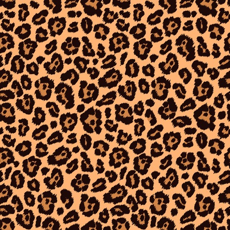 Animal print, leopard texture. Endless texture can be used for printing onto fabric and paper or scrap booking. Can be used as web sites backdrop. Stock Illustratie