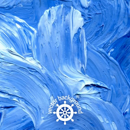 ink in water: Oil painted background. Vector illustration. Abstract backdrop. Illustration
