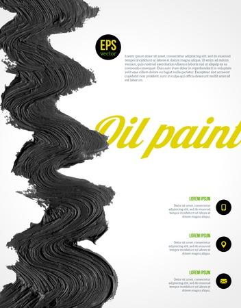 Ilustración del vector. Resumen forma. Dibujado a mano. Textura Grunge. Vector de diseño de diseño de presentaciones, folletos, carteles, catálogos o la cubierta del folleto. Foto de archivo - 32212591