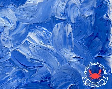 Vector illustration. Résumé toile de fond. Peut être utilisé pour la couverture de menu de fruits de mer. Marine étiquette avec un ruban.