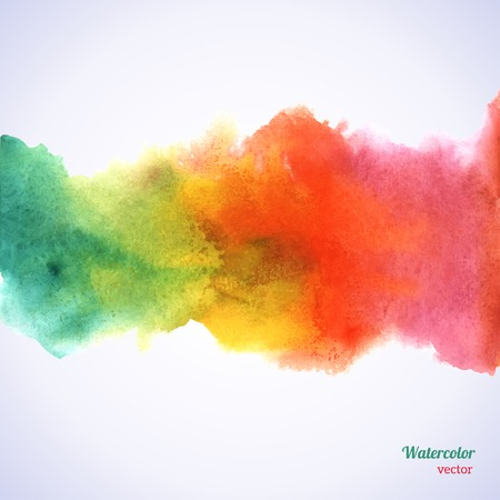 arco iris: Ilustraci�n del vector. Plantilla de papel de grunge. Agua, papel mojado. Blobs, mancha, pinta blot. Composici�n de los elementos del libro de recuerdos. Invitaci�n o el dise�o de tarjetas de felicitaci�n.
