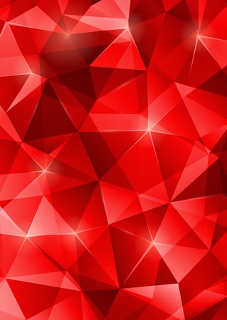ruby red: Festive background. Sparkles, lights. Great for Christmas or New year invitations background. Colorful mosaic pattern. Illustration