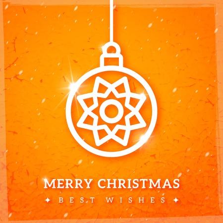 装飾的な安物の宝石とクリスマスの背景。ベクトルの図。亀裂の織り目加工の背景。