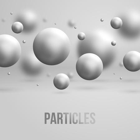 3d atom: Abstract molecules design. Vector illustration. Atoms. Medical background for banner or flyer.