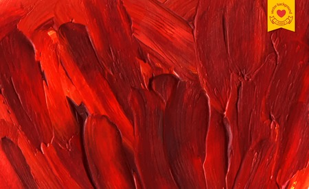 Oil painted background. Vector illustration. Abstract red backdrop with macro paint texture. Illustration