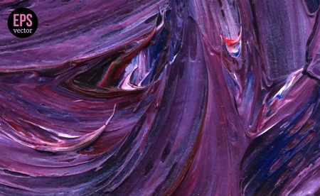 Paint Texture. Vector illustration. Violet grunge template.  Oil Paint Brush strokes. Ilustração
