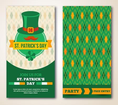 Set Of Carte de voeux Jour de l 'Happy St. Patrick  ou Flyer. Banque d'images - 35414157