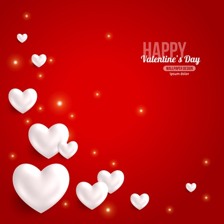 valentine background: Valentines Day Card Design with Hearts for Holiday Design.