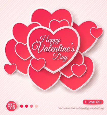 heart: Happy Valentines Day Greeting Card.