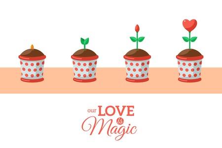 first day: Valentine\s Day Love Flower.