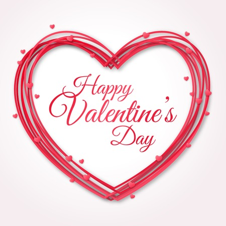 Happy Valentines Day Greeting Card. Stok Fotoğraf - 35414035