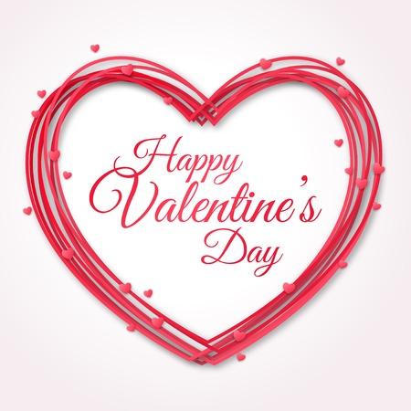 Tarjeta de felicitación feliz día de San Valentín. Foto de archivo - 35414035