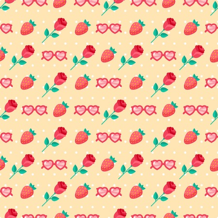 Cute Valentine seamless pattern. Vector